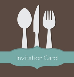Food Concept Invitation Card vector image