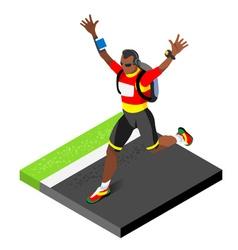 Marathon Runners Running Man 3D Isometric Image vector image vector image
