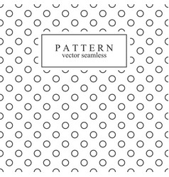 minimalist geometric seamless pattern with circles vector image vector image