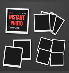 photo blank vintage photo frame mockup set vector image