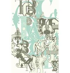 Retro alphabet letters vector image