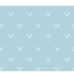 Seamless pattern with crossed knife and fork vector image vector image