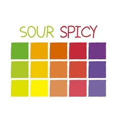 Sour Spicy Color Tone without Code vector image