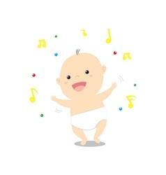 Baby dancing vector image vector image