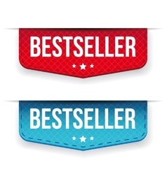 Best Seller red and blue ribbon vector image vector image