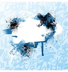 graffiti paint splatter vector image