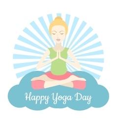 Happy Yoga Day vector image vector image