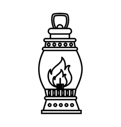 lantern torch icon design vector image