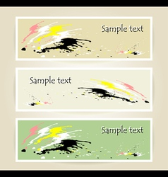 Set banners with spot of colors vector image vector image