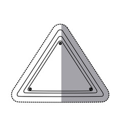 sticker silhouette triangle warning traffic sign vector image vector image