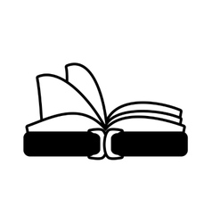 book library learn school outline vector image vector image