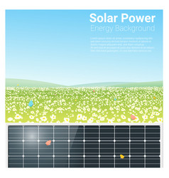 energy concept background with solar panel 3 vector image