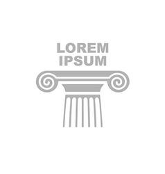 Greek column logo Emblem of ancient capital vector image