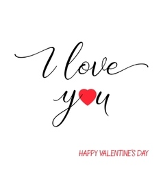 I love you lettering text on white background vector image vector image