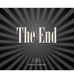 Movie ending vector image