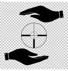 Protect symbol on the transparent background vector image