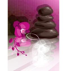 Purple Spa Design vector image