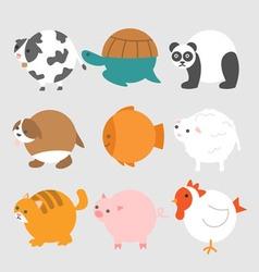 Round Animals vector image