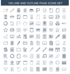 100 page icons vector