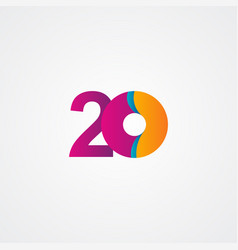 20 years anniversary celebration purple template vector