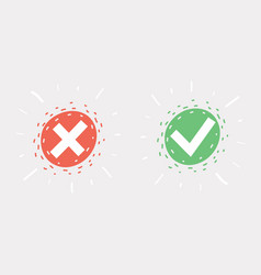 accept and reject sights vector image