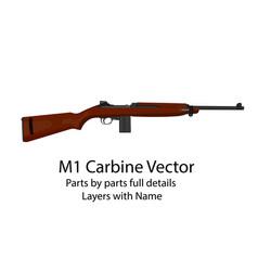 american ww2 m1 carbine gun vector image