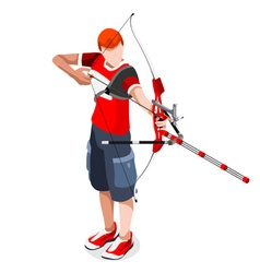 Archery Sports 3D Isometric vector