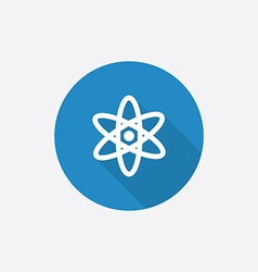 atom Flat Blue Simple Icon with long shadow vector image