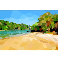 Beach poly vector image