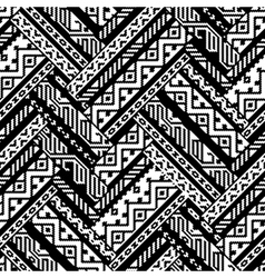 Black and white zig zag ethnic geometric aztec vector