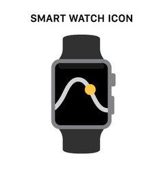 Black Smart Watch vector