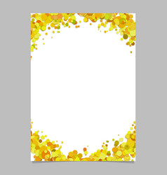 Blank abstract sprinkled confetti dot brochure vector