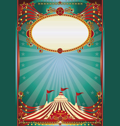 Blue and red magic circus background vector