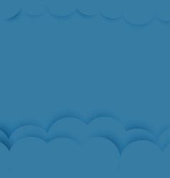 blue background with paper and shadow vector image