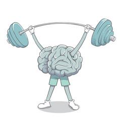 Brain raises barbell vector