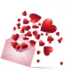 Bursting hearts vector