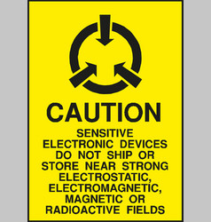 Caution electrostatic sensitive devices sign vector