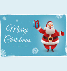 christmas background with santa claus cute vector image