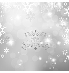 Christmas silver background vector
