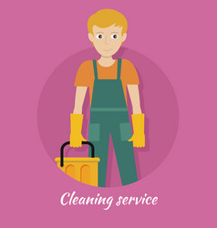 cleaning service banner vector image