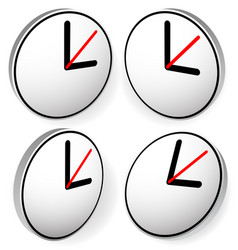 Clock graphics icon editable vector