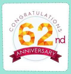 Colorful polygonal anniversary logo 3 062 vector