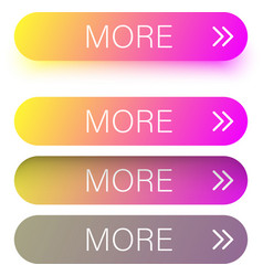 colorful spectrum more web buttons isolated on vector image