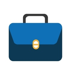 Colorful suitcase with square graphic vector