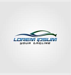 creative automotive logo design concept design vector image