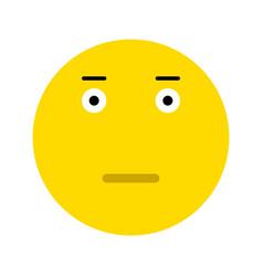 cute surprised emoticon vector image