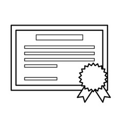 diploma education certification vector image