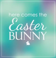 Easter here comes bunny bokeh vector