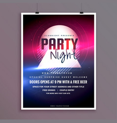 elegant party night music flyer template design vector image