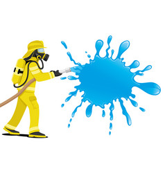 fireman and splash of water vector image
